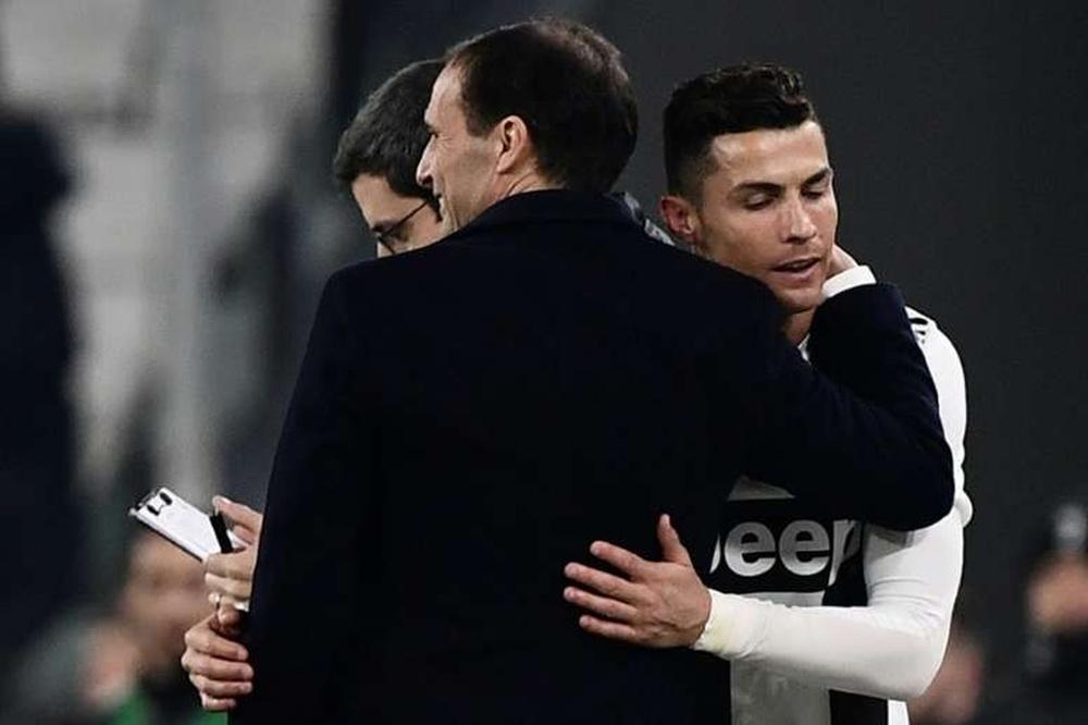 Allegri comunica l'addio di Ronaldo. AFP