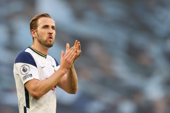 Kane wants to earn 18 million pounds a year. AFP