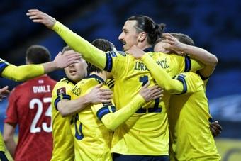 Zlatan Ibrahimovic de retour en sélection suédoise. AFP