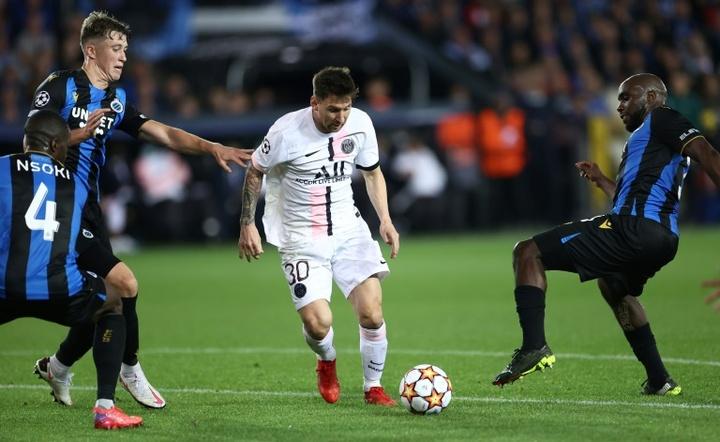 Así fue el debut de Messi en Champions con el PSG: chispazos en un duelo gris. AFP
