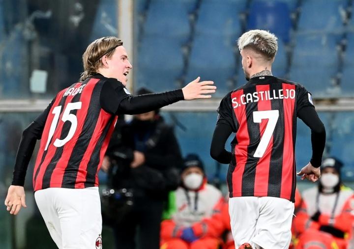 Nova vida para Castillejo no Milan.AFP