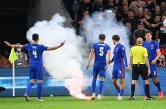Inglaterra ganó el partido. AFP