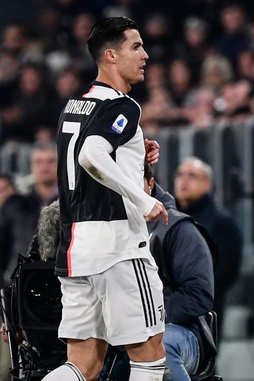 Cristiano abandonó el estadio antes de que terminara el Juve-Milan
