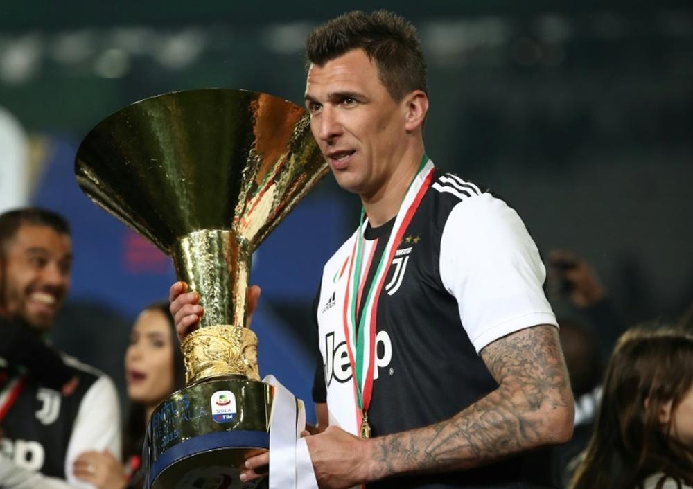 Mario Mandzukic is leaving football. AFP