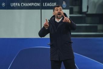 Sergio Conceiçao elogió la labor del Oporto en el Wanda Metropolitano. AFP