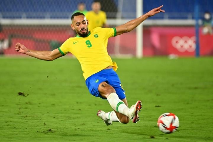 Matheus Cunha no se ejercitará con el grupo. AFP