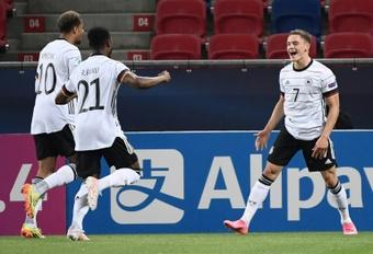 Florian Wirtz a fait ses débuts avec la sélection allemande. AFP