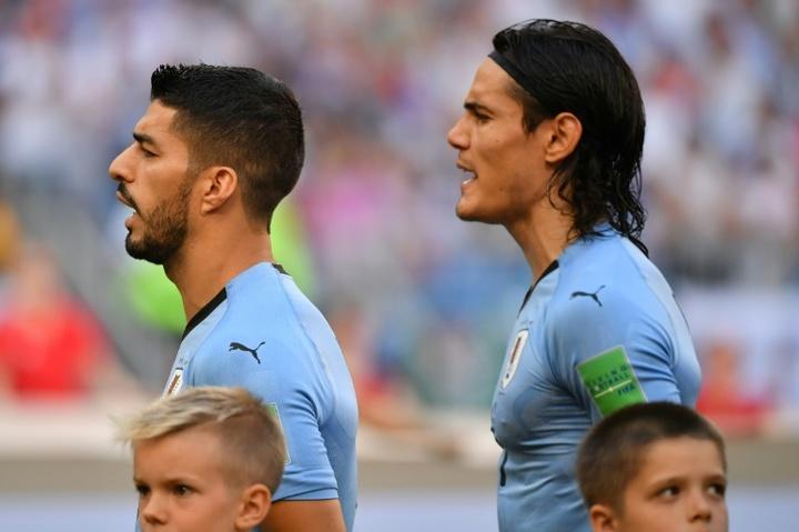 L'Uruguay sans Luis Suarez ni Edinson Cavani. AFP