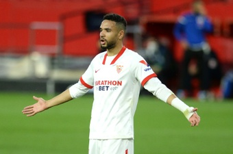 Arsenal are going after Youssef En-Nesyri again. AFP