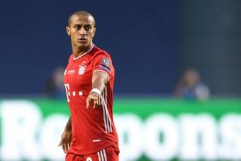 Thiago se lesionou contra o Crystal Palace. AFP
