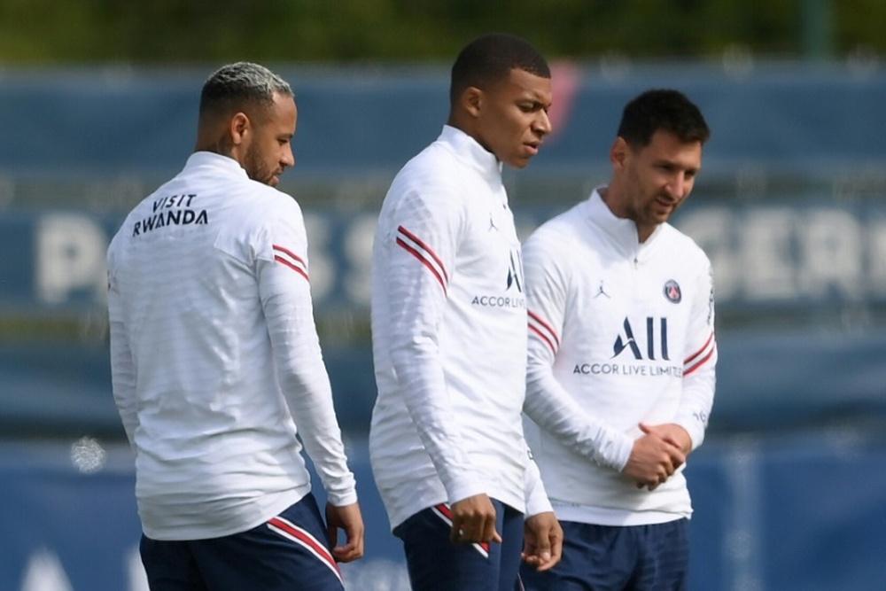 Messi, Neymar et Mbappé devraient être titulaires contre Bruges. AFP