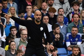 Guardiola elogió la actitud del City ante el Chelsea. AFP
