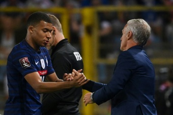 Mbappe started for France after the saga of his transfer to Real Madrid that didn't happen. AFP