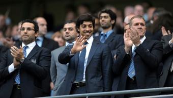Los planes de Sheikh Mansour pasaban por comprar el Liverpool. AFP