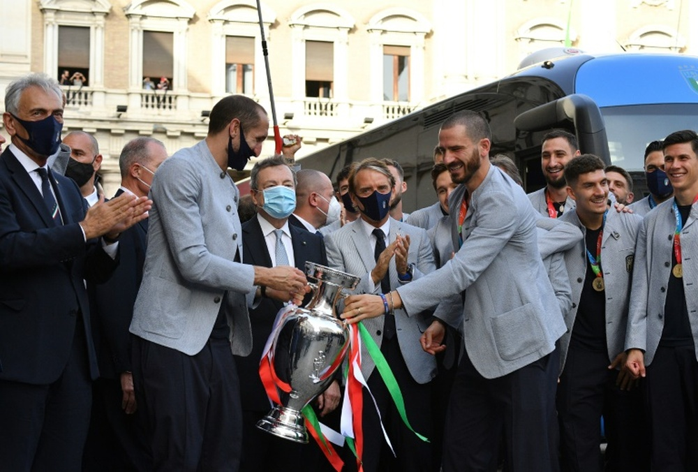 Ultim'ora del calcio italiano in data 1 settembre 2021. AFP