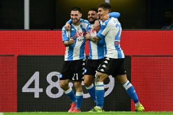 Le formazioni ufficiali di Napoli-Cagliari. AFP