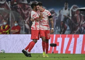 Szoboszlai está siendo una sensación en la Bundesliga. AFP