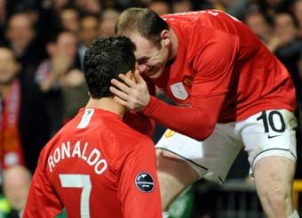 Wayne Rooney et Cristiano Ronaldo ont fait les beaux jours des Red Devils. AFP