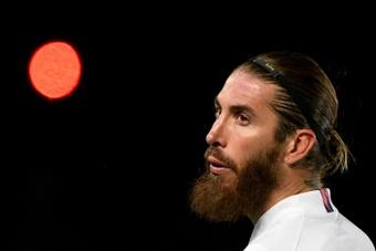 Sergio Ramos ainda não jogou com o PSG. AFP