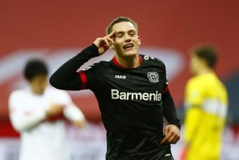 O Leverkusen impõe mais uma derrota ao Stuttgart. AFP