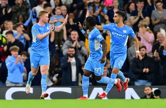 Manchester City déroule pour son entrée en Carabao Cup. AFP