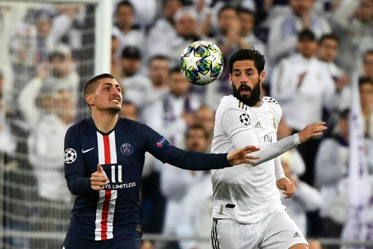 Isco, durante un partido de Champions contra el PSG
