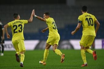 Yeremy Pino, el jugador del Villarreal más joven en Champions. AFP