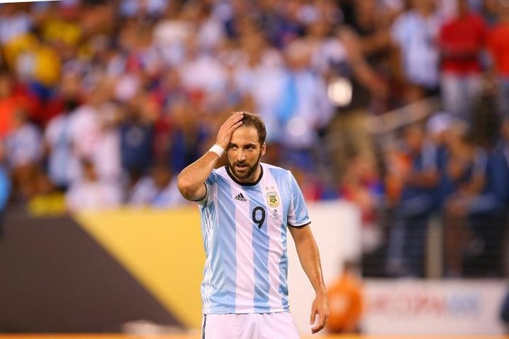 Higuain ne rejouera plus pour l'Argentine. afp