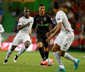 Pogba est ravi du retour de Cristiano à Old Trafford. AFP