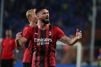 Giroud signed for AC Milan on summer. AFP