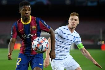 El City preguntó a Mendes por el contrato de Ansu Fati con el Barça. AFP
