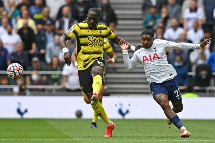 Sissoko ya jugó su primer partido en el Watford. AFP