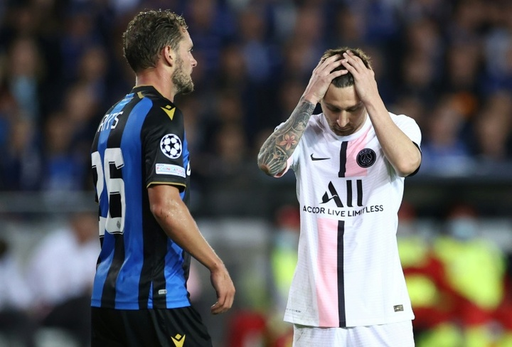 As primeiras críticas ao PSG após a estreia na Champions. AFP