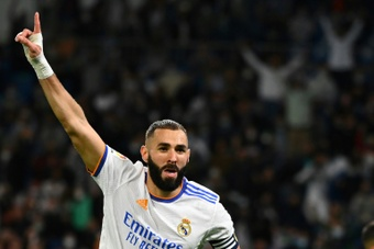 Benzema has been in terrific form for Real Madrid. AFP