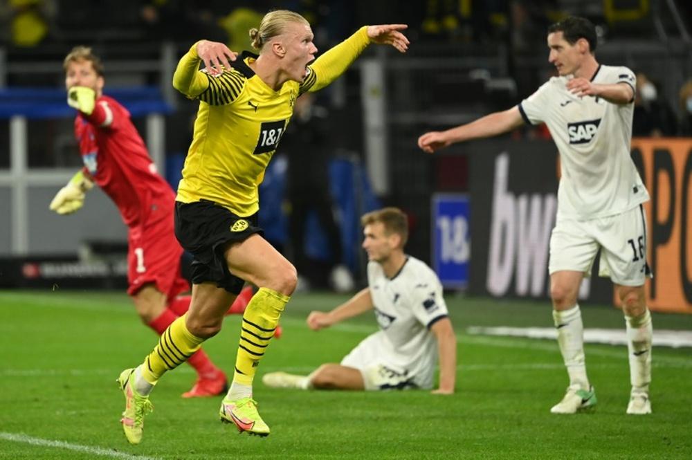 Haaland loves scoring goals. AFP