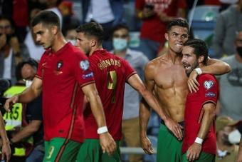 Ronaldo : Je suis content d'avoir aidé à gagner et d'avoir battu ce record. afp