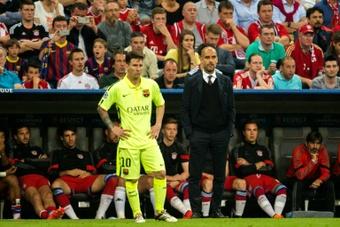 Guardiola conseille de ne jamais remplacé Messi en cours de match. AFP