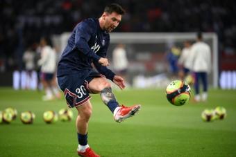 Messi desfalca o PSG contra o Metz. AFP