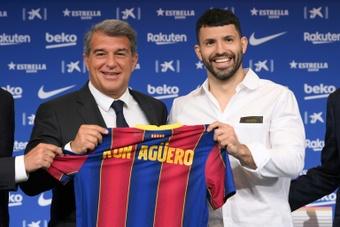 Une date de retour fixée pour Agüero ? AFP