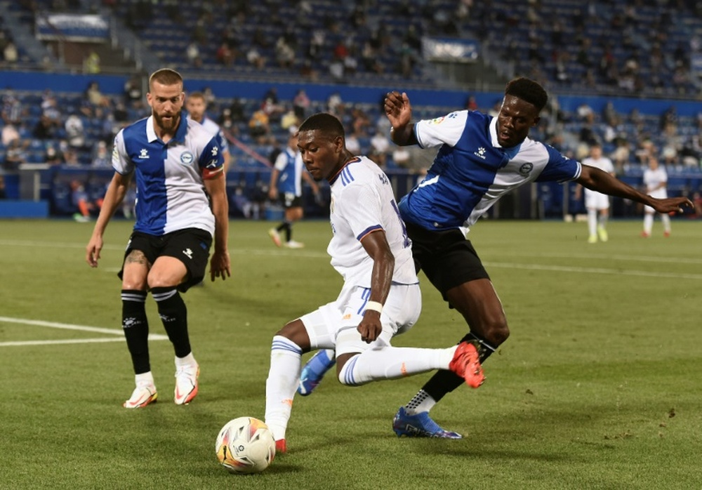 Alaba et Jovic, dans le groupe du Real pour affronter l'Inter. AFP