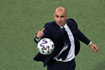 Roberto Martinez spoke about the rumours that place him at Barca. AFP