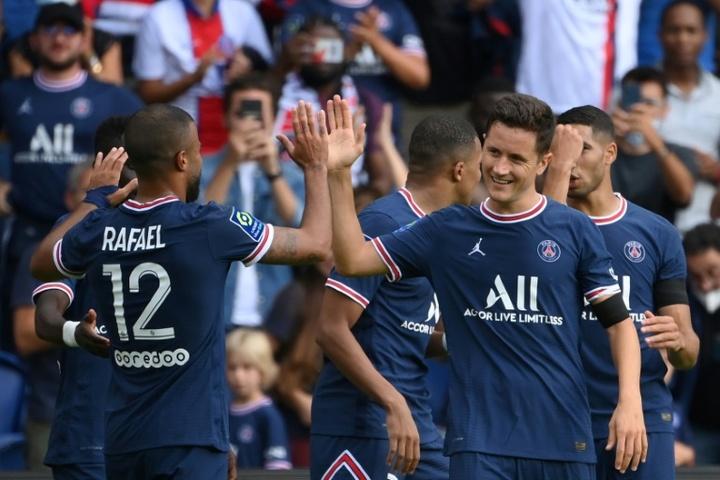 Ander Herrera falou sobre a pressão que o PSG sofre com a Champions. AFP