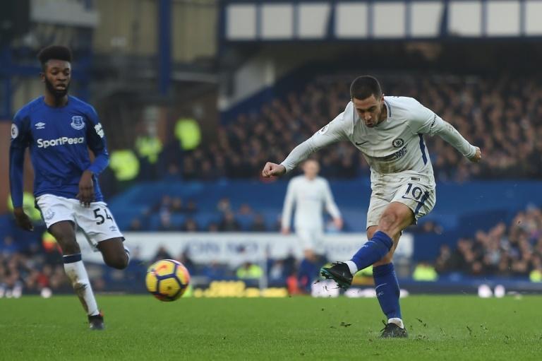 Hazard à la place de Morata à Everton — Chelsea