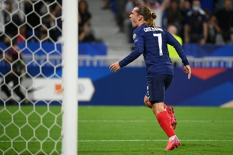Griezmann igualou Platini com 41 golos.AFP