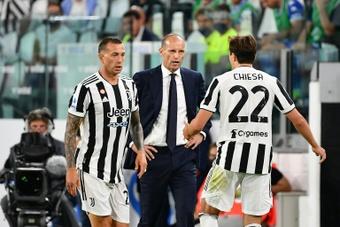 Massimiliano Allegri é questionado na Juventus. AFP