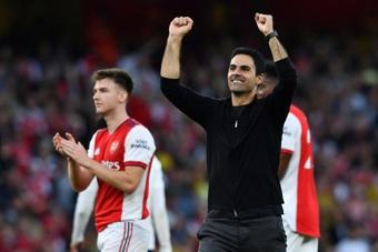 Mikel Arteta, très content du match réalisé par ses hommes. AFP