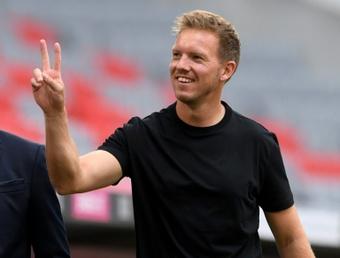 Técnico do Bayern está feliz pelo 5 a 0 contra o Hertha Berlim. AFP