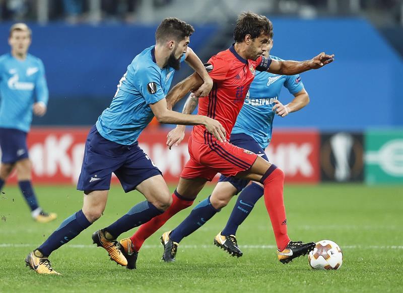 Golazo de Paredes en la victoria del Zenit ante la Real Sociedad