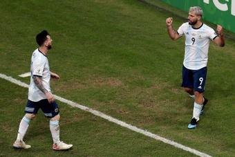 Aguero : Le numéro 10 de Messi, je ne l'ai pas pris par respect. afp