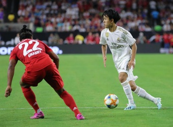 Kubo's (R) first game at the Bernabeu could see him be rewarded. EFE
